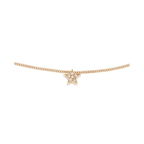MY LITTLE STAR necklace with white diamonds
