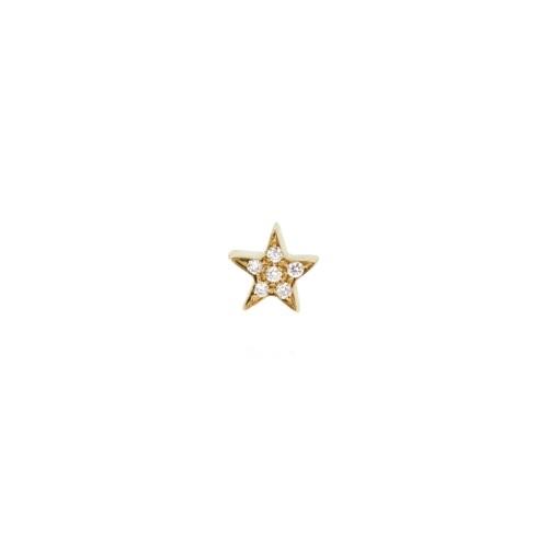 Orecchino MY LITTLE STAR con diamanti bianchi