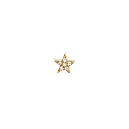MY LITTLE STAR earring with white diamonds