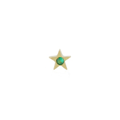 MY LITTLE STAR earring with emerald