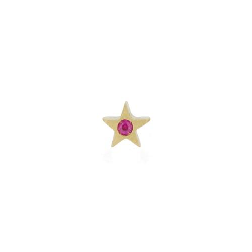 Orecchino MY LITTLE STAR con zaffiro rosa