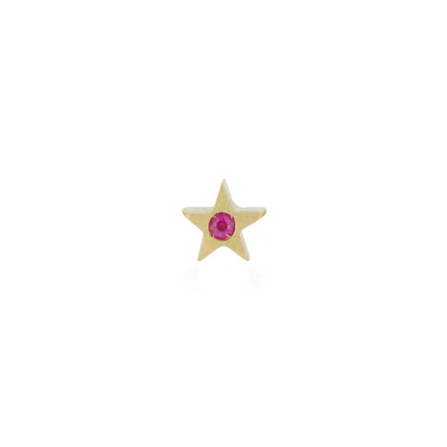 MY LITTLE STAR earring with pink sapphire