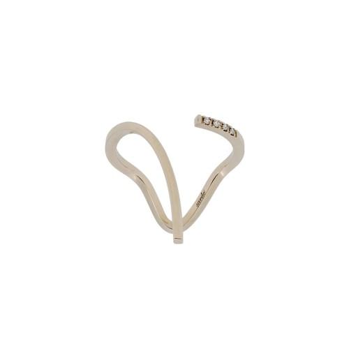 ENTANGLED GRACE WHITE ring